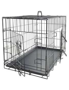 """Ox Gord 48"""" Heavy Duty Foldable Double Door Dog Crate With Divider And Removable Abs Plastic Tray, 48"""" X 29"""" X 32"""" by Ox Gord"""