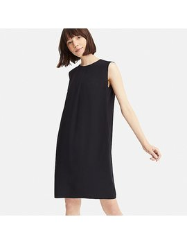 Women Drape Sleeveless Dress by Uniqlo