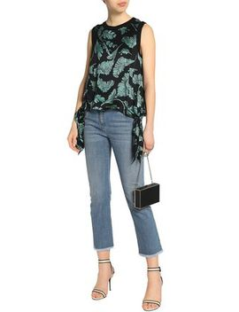 Knotted Printed Satin Top by Cinq À Sept
