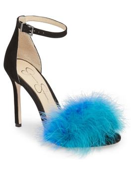Jesaphine Feathered Sandal by Jessica Simpson