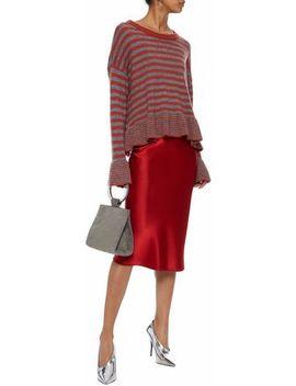 Seren Striped Wool Blend Sweater by Cinq À Sept