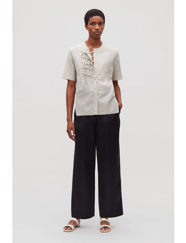 Front Tie Short Sleeved Shirt by Cos