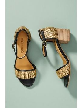 Cubanas Marie Woven Heeled Sandals by Cubanas