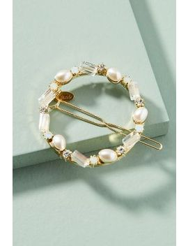 Pearled Circle Hair Clip by Anthropologie