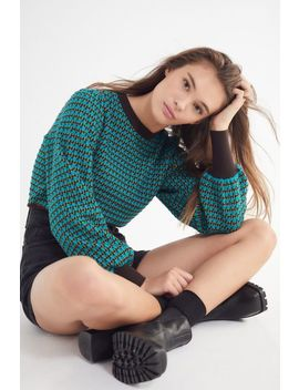 Uo Oliver Balloon Sleeve Cropped Sweater by Urban Outfitters