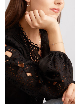 14 Karat Gold Herkimer Diamond Bracelet by Melissa Joy Manning