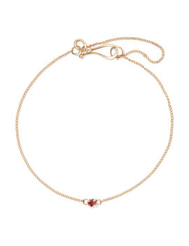 14 Karat Gold Garnet Bracelet by Melissa Joy Manning