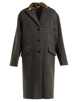 Single Breasted Wool And Faux Fur Coat by Miu Miu