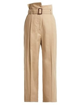 Paperbag Waist Wide Leg Cotton Trousers by Weekend Max Mara