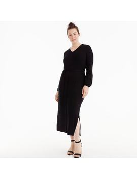 Universal Standard For J.Crew Jersey Long Sleeve Maxi Dress by J.Crew