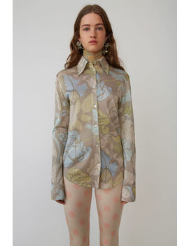 Floral Lurex Shirt Blue/Green by Acne Studios