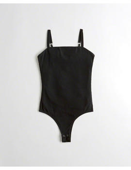 Square Neck Cami Bodysuit by Hollister