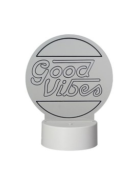 Led Lit Acrylic Sign Good Vibes Novelty Sculpture Lights White   Room Essentials™ by Shop This Collection