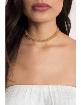 Zoe Gold Layered Choker by Tobi