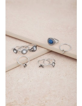 Indio Antique Silver Ring Set by Tobi