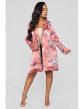 Heading To Bed Kimono   Marsala Combo by Fashion Nova