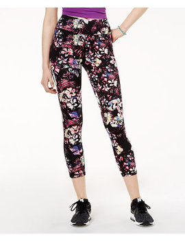 Active Juniors' Printed Cropped Leggings, Created For Macy's by Material Girl