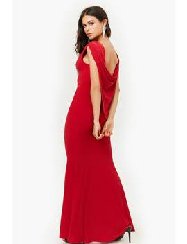 Ruched Cowl Back Gown by Forever 21