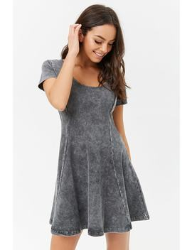 Oil Wash Skater Dress by Forever 21