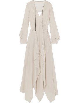 Austonley Open Back Silk Crepe Midi Dress by Roland Mouret