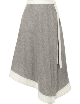 Asymmetric Linen And Ramie Blend Midi Skirt by Loewe