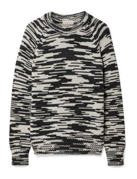 Olivia Mélange Merino Wool Sweater by Tory Burch