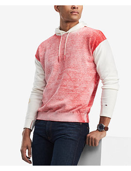 Men's Color Block Hoodie, Created For Macy's by Tommy Hilfiger Denim