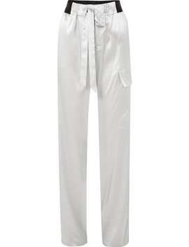 Silk Blend Charmeuse Track Pants by Tom Ford