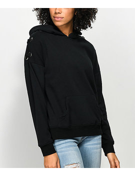 Empyre Shay Black Lace Up Hoodie by Empyre