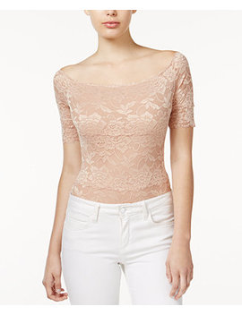 Dara Off The Shoulder Lace Bodysuit by Guess