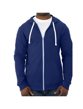 Men's 100 Percents Sofspun Cotton Jersey Full Zip Hood by Fruit Of The Loom