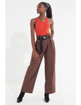 Uo Sienna Belted Paperbag Pant by Urban Outfitters