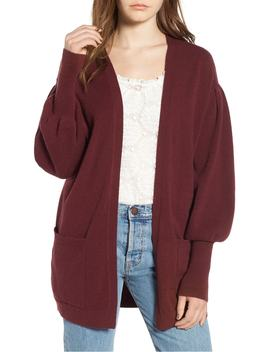 Balloon Sleeve Cardigan by Hinge