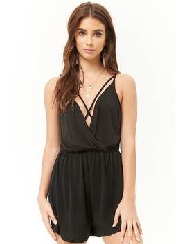 Strappy Surplice Cami Romper by Forever 21