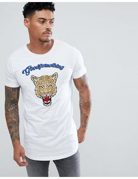 Good For Nothing Muscle T Shirt With Tiger Print by Good For Nothing
