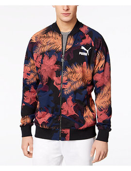 Men's Summer Tropical Printed Track Jacket by Puma