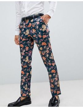 Asos Design Skinny Smart Pants With Floral Print by Asos Design