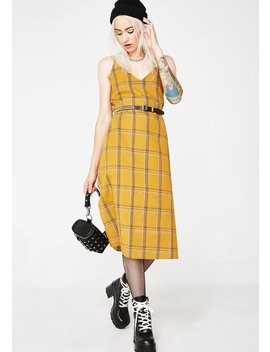 Honeytrap Plaid Midi Dress by Etophe Studios
