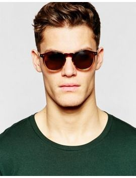 Asos Keyhole Round Sunglasses With Brown To Clear Fade Frame by Asos