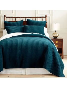 Atwood Velvet Teal Quilt &Amp; Sham by Pier1 Imports