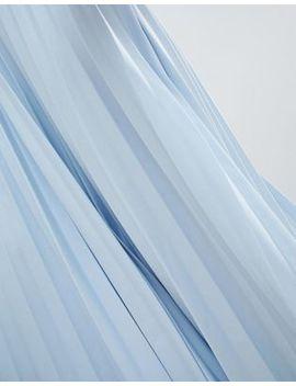 Asos Design Asymmetric Hem Pleated Midi Skirt In Scuba by Asos Design