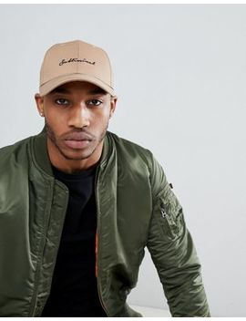 Asos Design Baseball Cap In Camel With Subliminal Embroidery by Asos Design