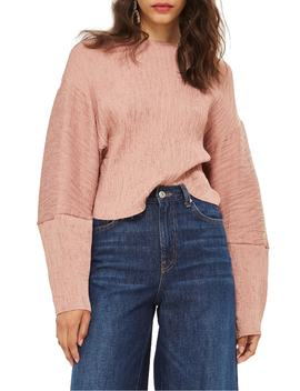 Textured Crinkle Top by Topshop