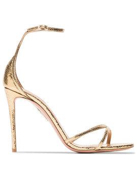 Aquazzuragold Purist 105 Metallic Leather Sandalshome Women Shoes Sandals by Aquazzura