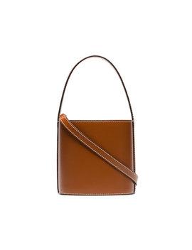 Staudbrown Bisset Leather Bucket Baghome Women Bags Shoulder Bags by Staud