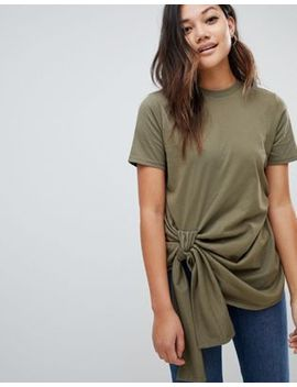 Asos Design Knot Front T Shirt by Asos Design