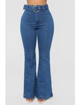 The Tide Is High Flare Jeans   Medium Blue Wash by Fashion Nova