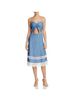 Lovers + Friends Womens Denim Spaghetti Straps A Line Cocktail Dress Bhfo 0546 by Lovers + Friends
