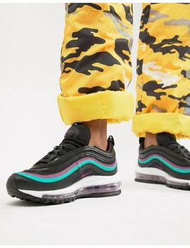 Nike Black With Purple Piping Air Max 97 Trainers by Nike