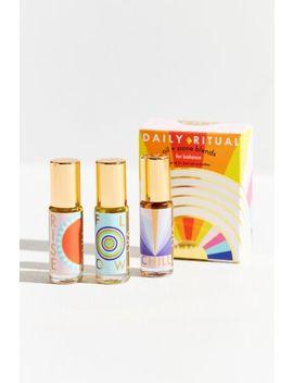 Lua Skincare Daily Ritual Oil + Stone Set by Lua Skincare